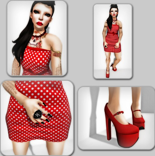 sis - chandelle shoes - enyo ring - cheeky dress - censored skin