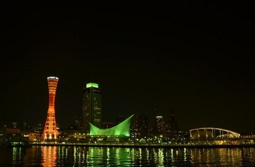 Kobe Port at Night