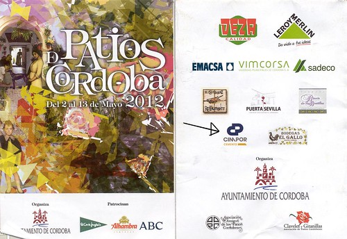 Folleto de los Patios de Córdoba 2012.