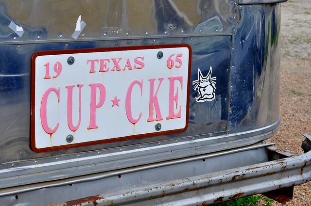 cupcake license plate