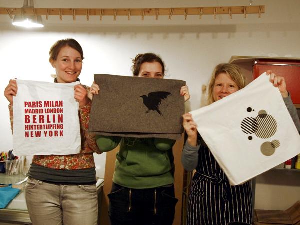 Siebdruckkurs im Berliner Drucksalon