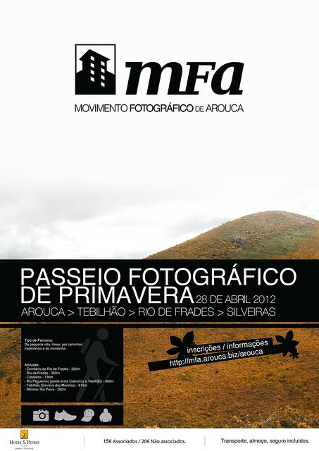 Cartaz Passeio Fotográfico de Primavera 2012