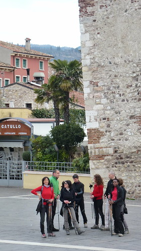 under the tower in Bardolino
