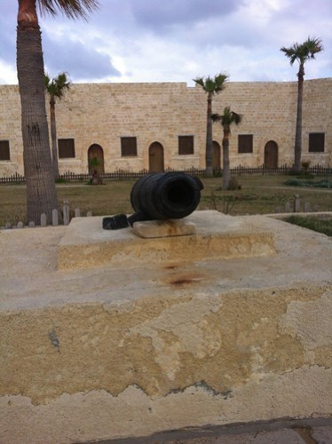 Courtyard of the Citadel Qaitbey, Alexandria, Egypt.