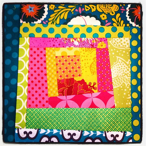 Wonky patch block for March challenge - London Modern Quilt Guild by azmiat