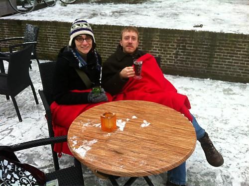 Having drinks on the ice