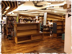 Empty shelves at Art and Design Section, Last Day of PageOne Bookshop at Vivocity