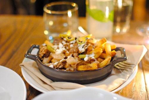 Egyptian Rebel Fries heirloom beans, brisket, syrian cheese