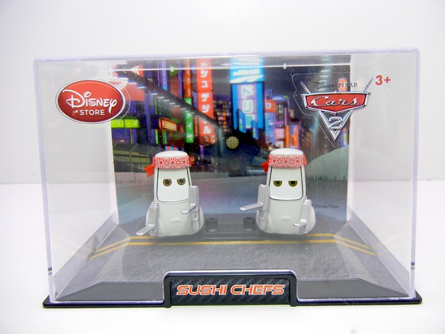 disney store cars 2 sushi chef pitties