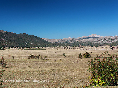 The valley and mountains of Lika (close to town of Srb)