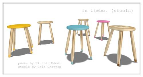 in limbo. (stools)