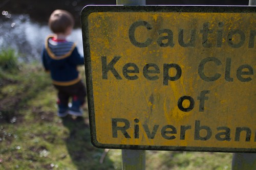 Caution Keep Clear of Riverbank #parentalfail