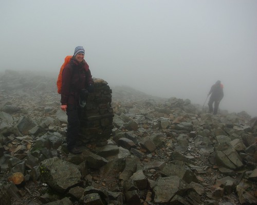 20110924-05_At top of Scafell Pike - Wonderful View (sarcastically said) by gary.hadden