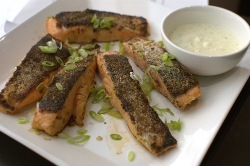 Salmon with lime mayonnaise
