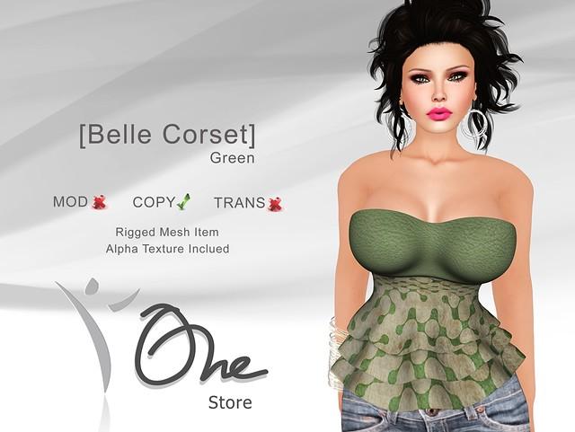 [Belle Corset] Green