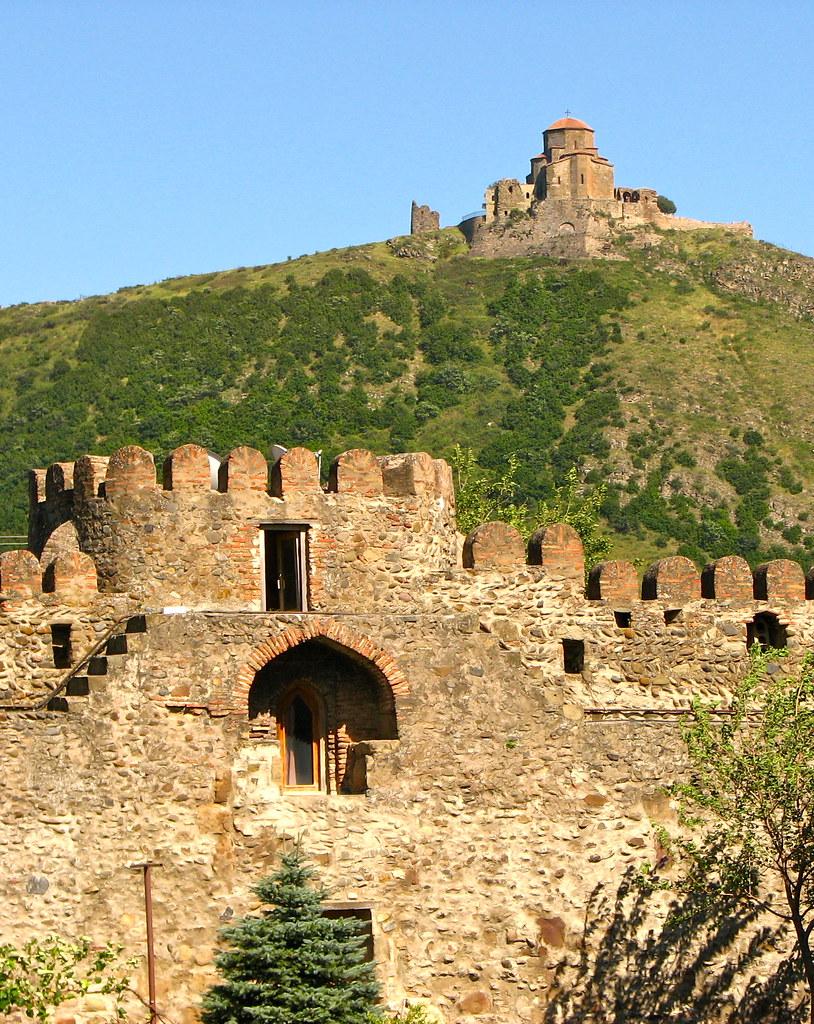 Medieval walls of Jvari Church Tbilisi