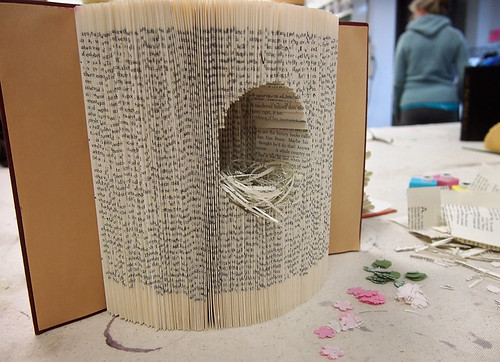 Altered Book Workshop at Blim - Student Work