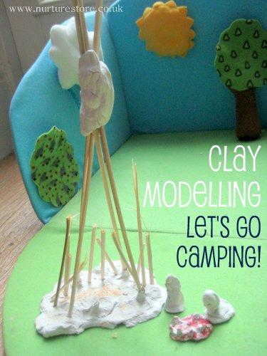 Air drying clay models