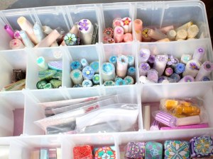 polymer clay cane storage