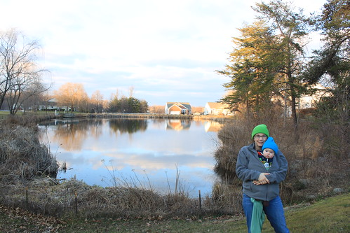 Family Walk in Lake Ridge - Pond at Westminste (Close) (By Ryan Somma)