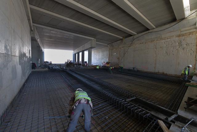 Trabajos de forjado bajo puente de Sant Adrià - 15-02-12