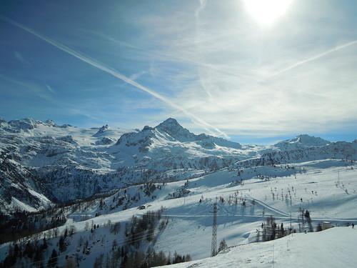 Sole nella neve