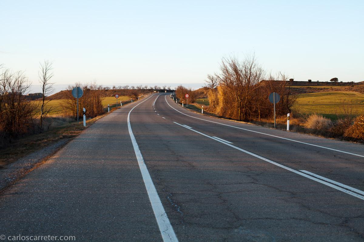 Paisaje en la antigua N-330