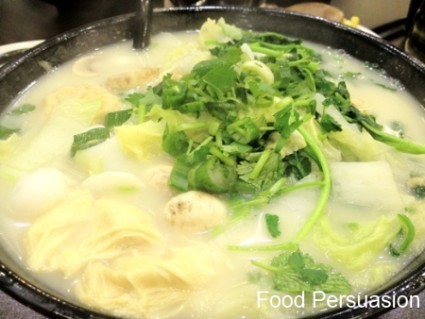Chinese Creamy fish broth noodle soup