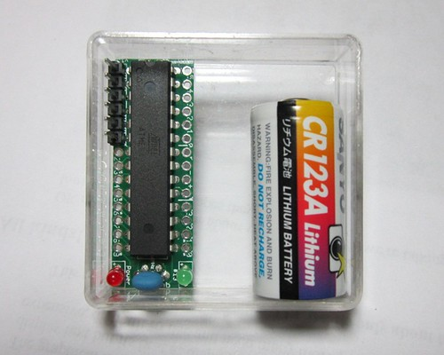 JeonLab mini v1.3 in clear case with CR123A