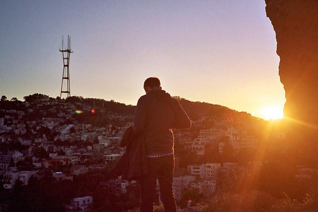 Sunset at Corona Heights