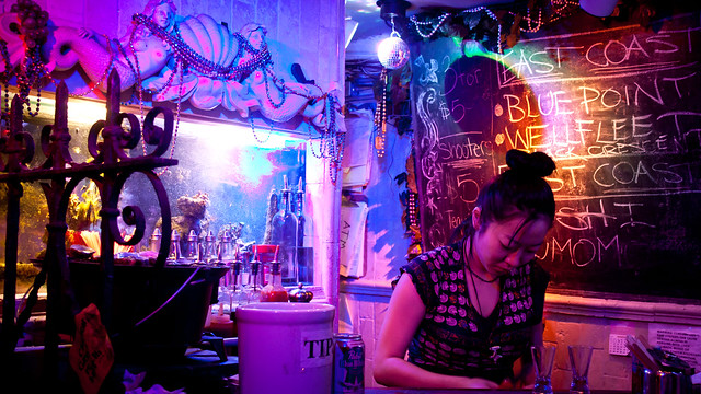 Woman at the Oyster Bar at 169 Bar - Chinatown, NYC