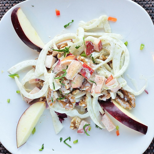 Fennel, Apple & Walnut Salad