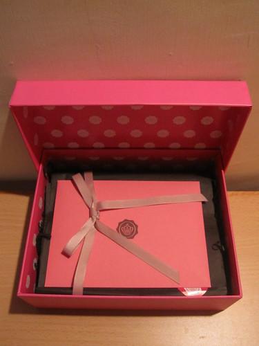 Pink Box and Pink Envelope