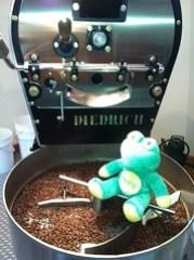coffee in the cooling bin