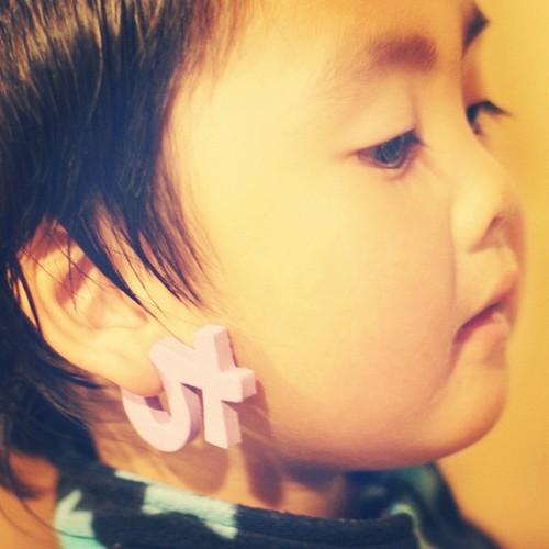 お耳についているのは「さ」! #azukikun