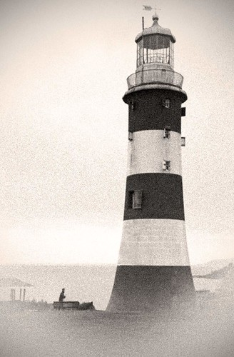 The lighthouse on Plymouth Hoe, Plymouth, UK