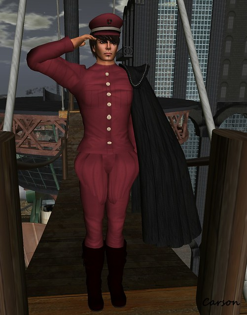 C'est la vie!-captain-uniform-winered  K Captain Cloak Black for team ASH 1st Anniv.gift