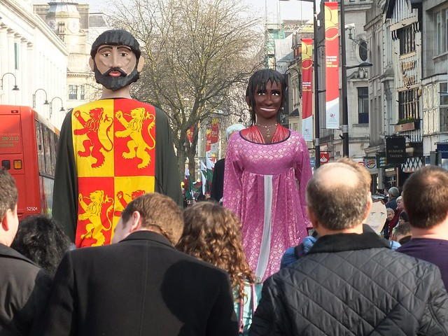 St David's Day parade in Cardiff, 2012