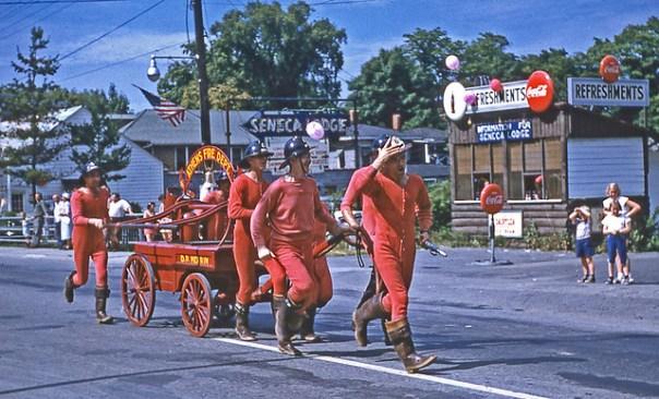 Athens (Pennsylvania) Fire Department - Watkins Glen, New York Memorial Day Parade - 1954