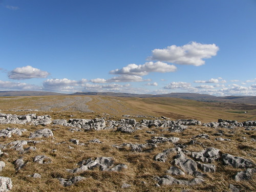 Limestone moors, Mallerstang edges and Wildboar Fell on the horizon