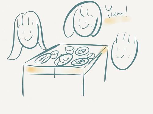 お昼ごはんか夜ごはんを一緒に食べるホームビジット