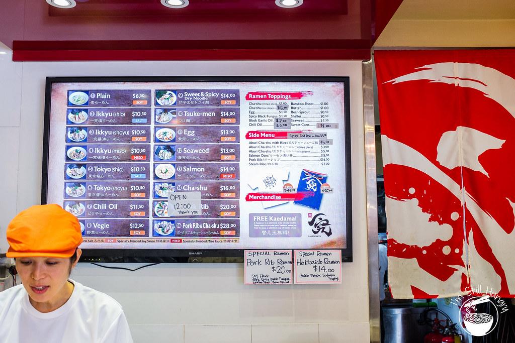 Ramen Ikkyu menu