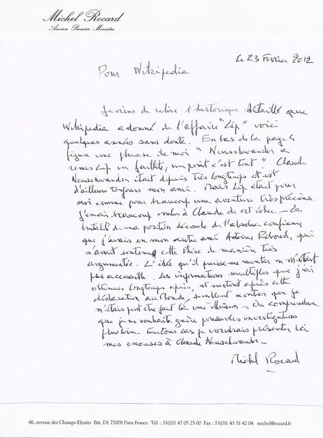 Michel Rocard sur Claude Neuschwander