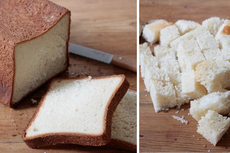 pain de mie, cubes