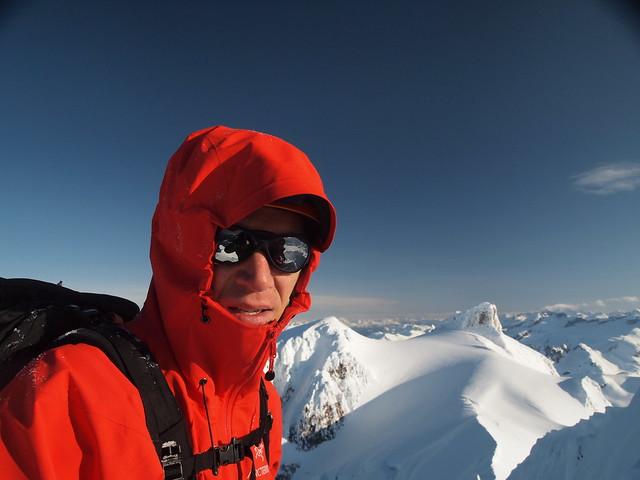 Francois-Xavier on the summit.
