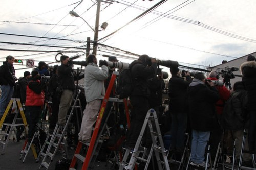 Reporting on Whitney Houston funeral