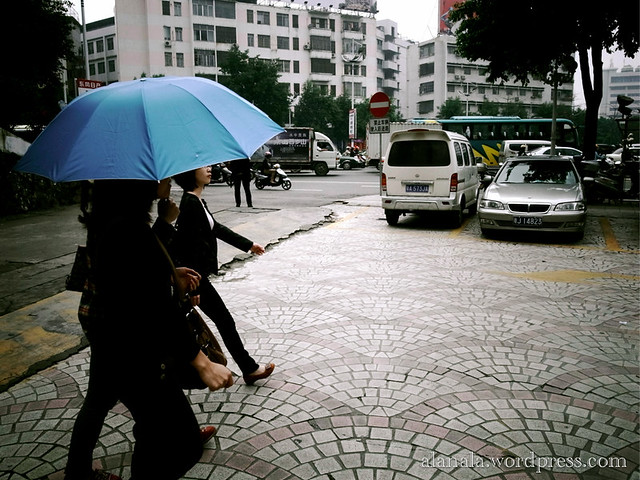 Umbrella ladies