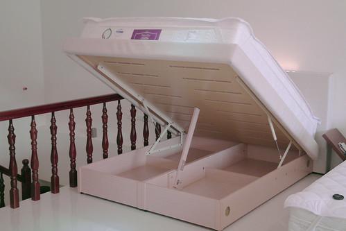 掀床工廠推薦款-時尚白橡床台-高質感排骨透氣掀床床架組4