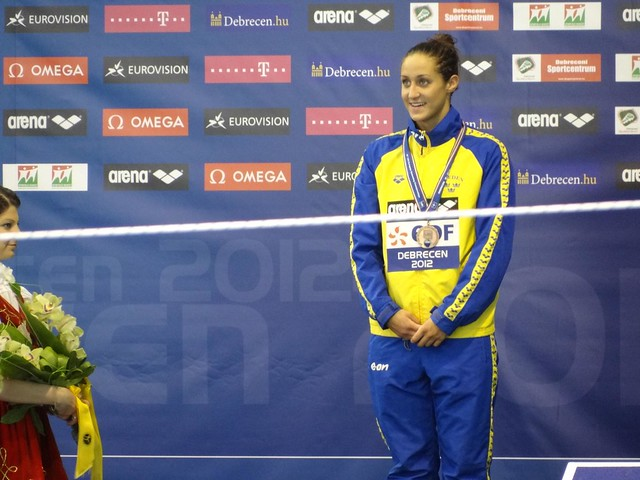 Martina Granström on the Debrecen 2012 medal podium