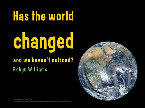 Has the world changed and we haven't noticed? #wtd2012 #renewables #energy @RadioNational